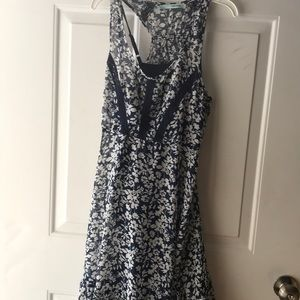 Maurices blue dress with flowers